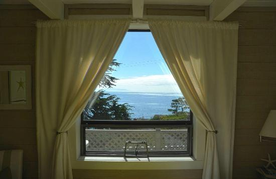The Cottage at Muir Beach: View from bedroom of Pacific Ocean