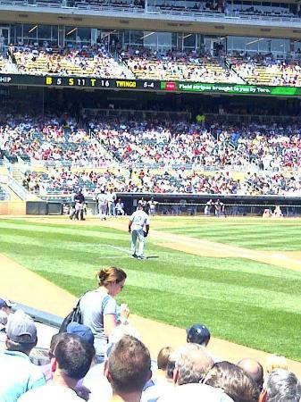 Target Field: the third base line