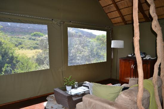 Shamwari Game Reserve Lodges: View from our living area