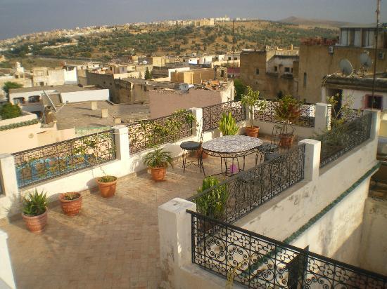 Riad Layali Fes : Vue de la terrasse du Ryad Layali