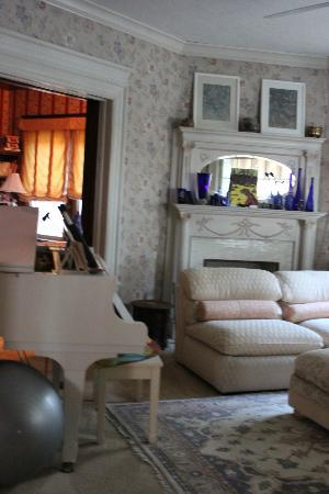 The Witherup House: Front parlor with baby grand piano