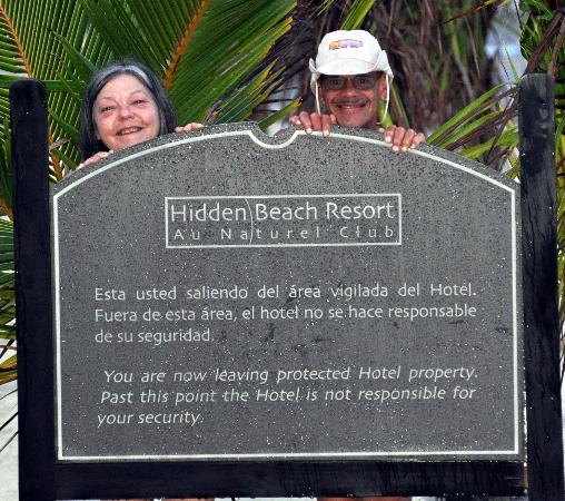 Hidden Beach Resort by Karisma: Just a warning sign.