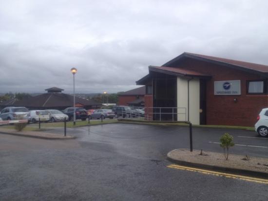 Speedbird Inn, Aberdeen Airport: entrance to the speedbird inn