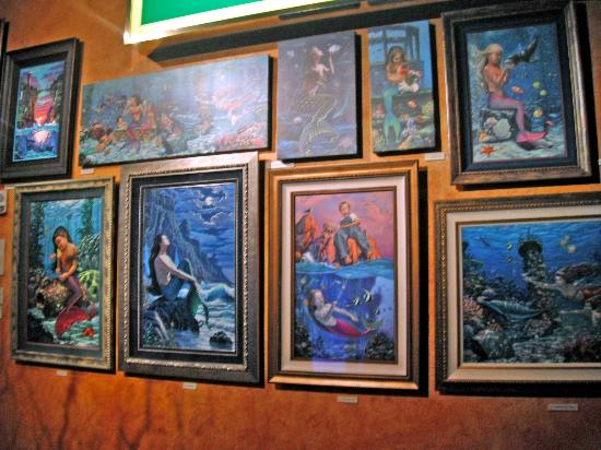Silverton Hotel and Casino: Mermaid Paintings on display at the Silverton