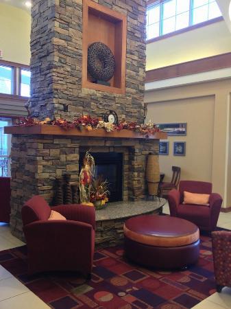 Residence Inn Fredericksburg : Lobby Fireplace