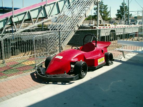 Las Vegas Mini Gran Prix Family Fun Center: Big Go Cart Photo Op Car