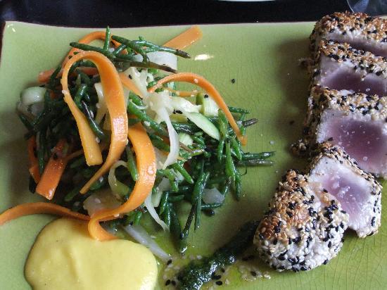 Des Gars dans la Cuisine : Tuna and veg ribbons