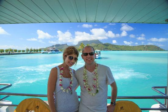 The St. Regis Bora Bora Resort: The boat ride from the airport to the resort.