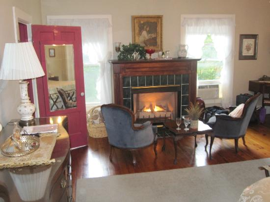 Ruah Bed & Breakfast: Gas operated fire place