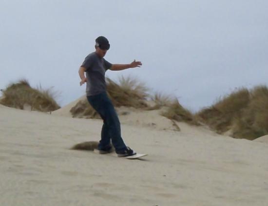 Sandboarding at Sand Master Park