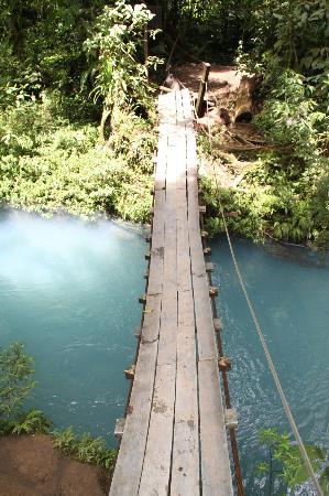 Posada Cielo Roto: Uno de los puentes en la ruta a Rio Celeste