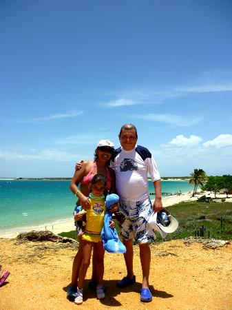 Isla Cubagua: Con mi familia