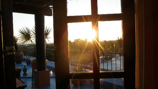 Hotel California: bedroom view as sun sets