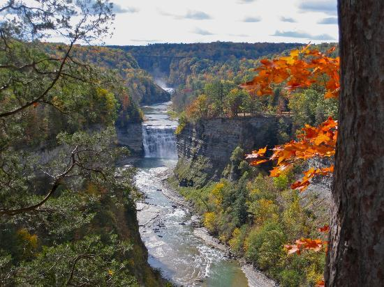 Steps to the upper falls picture of letchworth state - Letchworth state park swimming pool ...