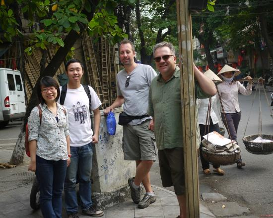 HanoiKids Tour : At the end of our touring day with Hanoi Kids