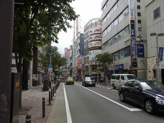 Fukuoka Prefecture, Japan: 天神西通り 全景