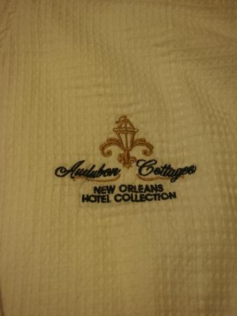 Signature spa robe from the Audubon Cottages - I feel so spoiled