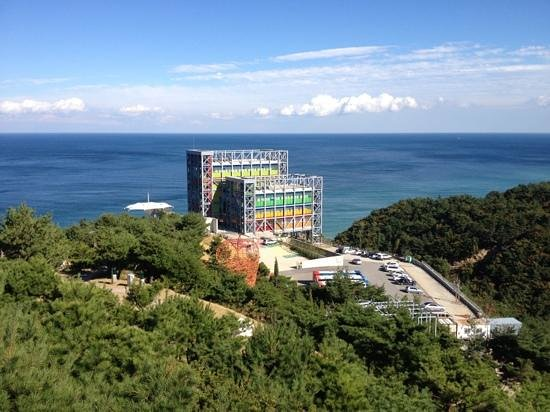 Gangneung, Južná Kórea: the art walk