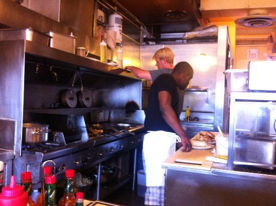 Belmont Diner: Kitchen view