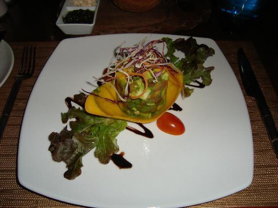 The Vijitt Resort Phuket : tartare mangue avocat