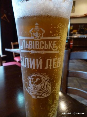Ice cold beer at T.G.I Friday's in Kiev