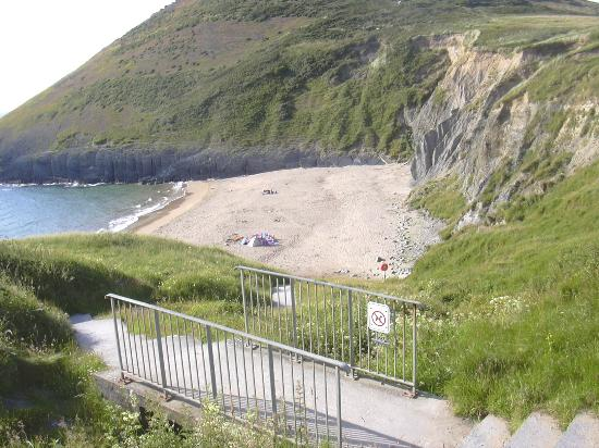 Mwnt Beach - not very crowded when I took this!