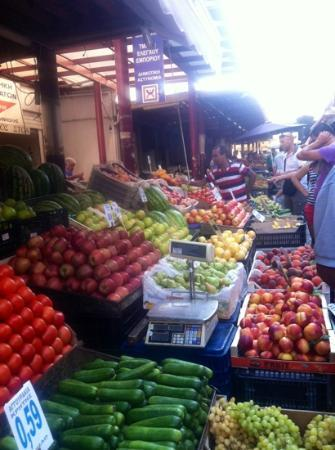 Athens Walks Tour Company : colorful produce at the market