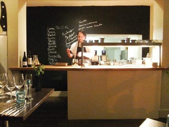 simply allium: The 12 course menu on the blackboard