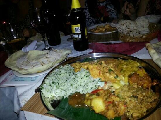 Rice & Spice: chicken thali