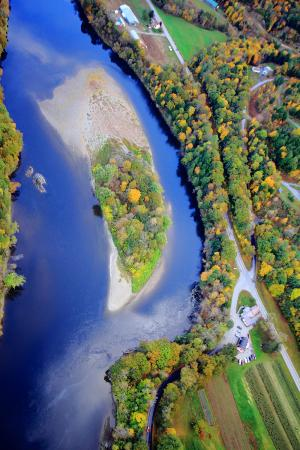 Balloons of Vermont - Private Flights: Over local river