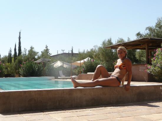 Domaine de Tameslohte: moment de détente près de la piscine...:)