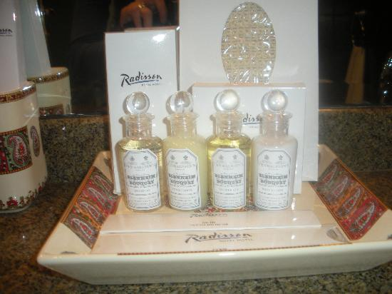 Radisson Royal Hotel Moscow : Penhaligon's toiletry in the bathroom