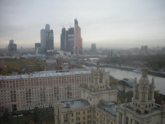 Radisson Royal Hotel Moscow : View on Naberezhnaya and Moscow City Business Center