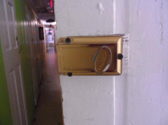 Bowery's Whitehouse Hotel: locks and corridor