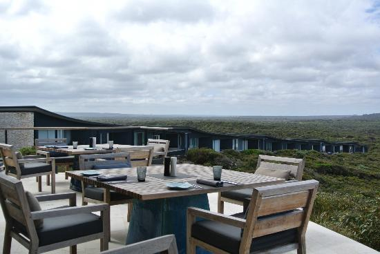 Southern Ocean Lodge: The lovely terrace....