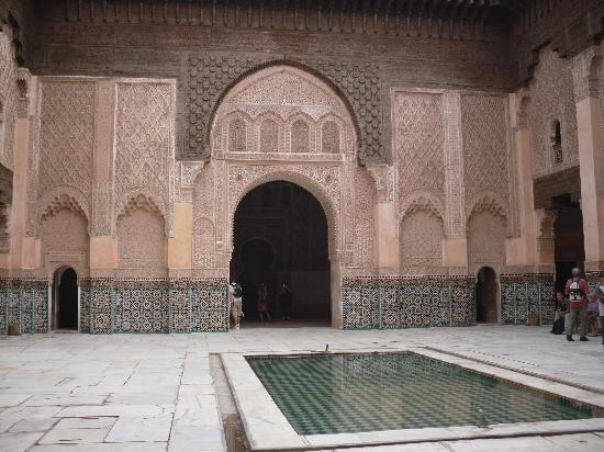 Ali Ben Youssef Medersa (Madrasa) : Vue intérieure