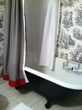 Carriage Lane Inn: a footed tub in our suite!