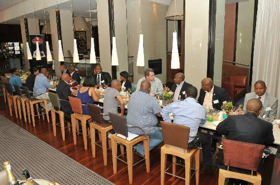 African Pride Melrose Arch Hotel: Legendary long dining table