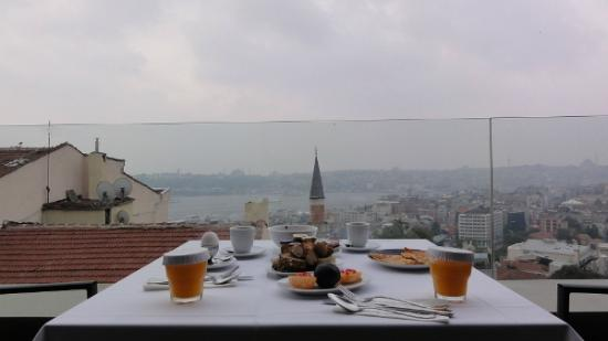 Witt İstanbul Hotel: View from Terrace @Superior king panoramic with terrace