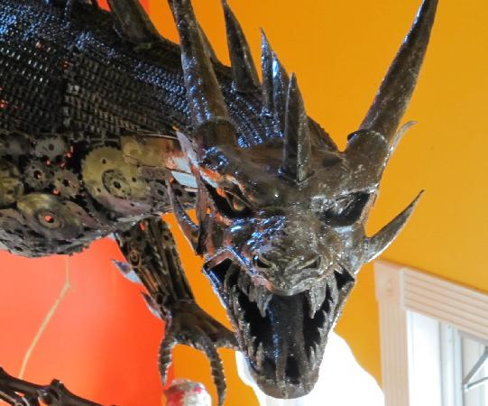 Ripley's Believe It or Not! Branson : Newest exhibit!  A dragon made of car parts that weighs almost 1,000 lbs!