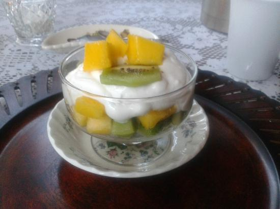 The Blue Spruce B&B : Day 1 - Pre breakfast fruit cup with greek yogurt