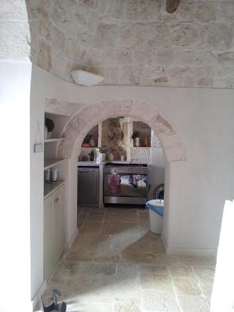 Kitchen in the old part of the trulli