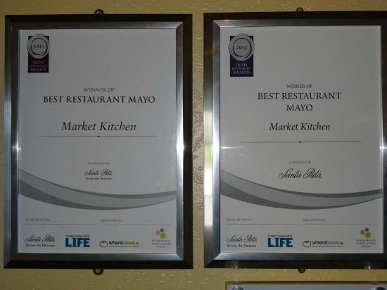 Market Kitchen: Best Restaurant In Mayo 2012 & 2011 Winners