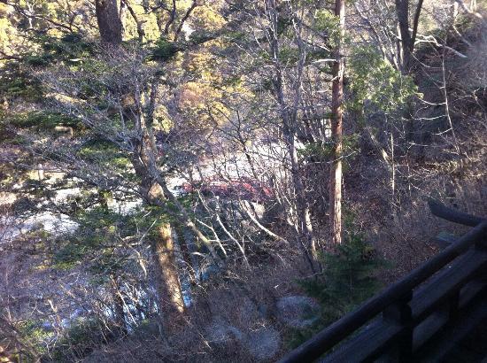 Nikko Kanaya Hotel: 別館より神橋を撮る
