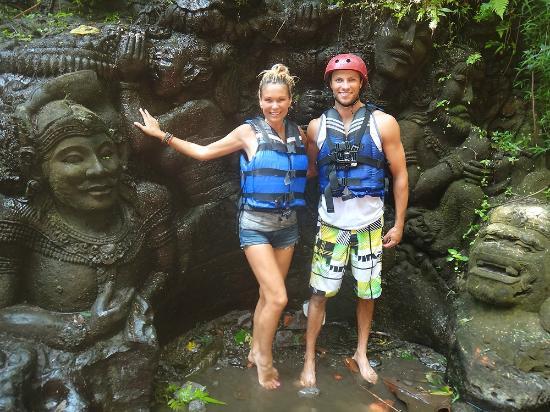 Graha Adventure White Water Rafting Ubud Bali: STONE CARVINGS.