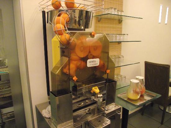 Hotel Magellan: Jus d`orange frais pressé