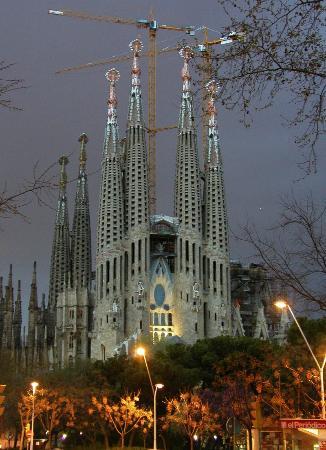 Hotel Sagrada Familia: vista de la sagrada familia