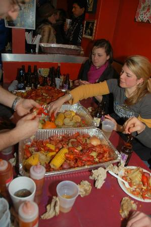 Bourbon n' Toulouse: Crawfish boil on Fat Tuesday.