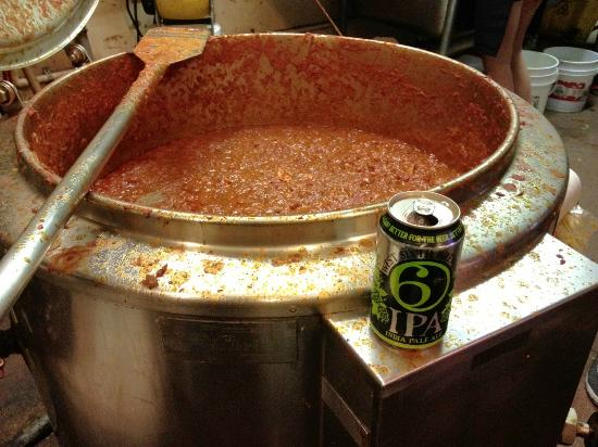 Bourbon n' Toulouse: 30 gallons of Cajun Red Chili!  Goes well with a West Sixth St. IPA.