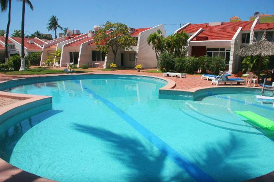 Villa Serena Vacation Rentals: View of the villas from swimming pool